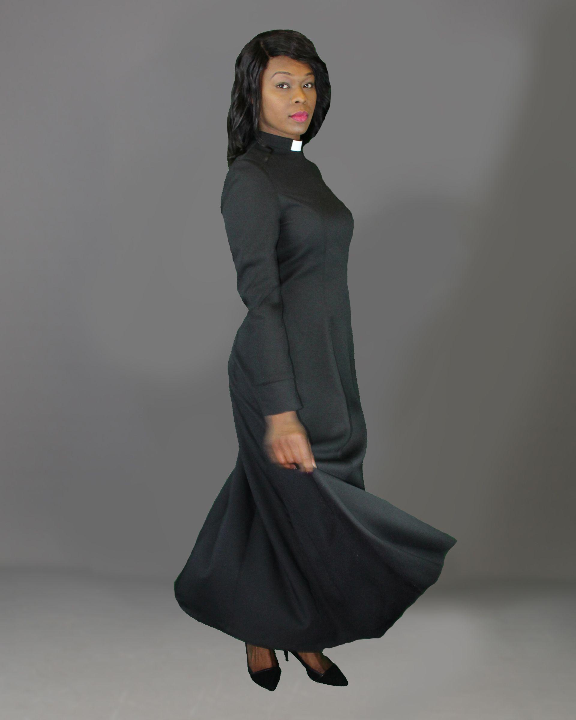 dd9778fa790c Full Length Clergy Dress Black | Fashion | Dresses, Church attire ...