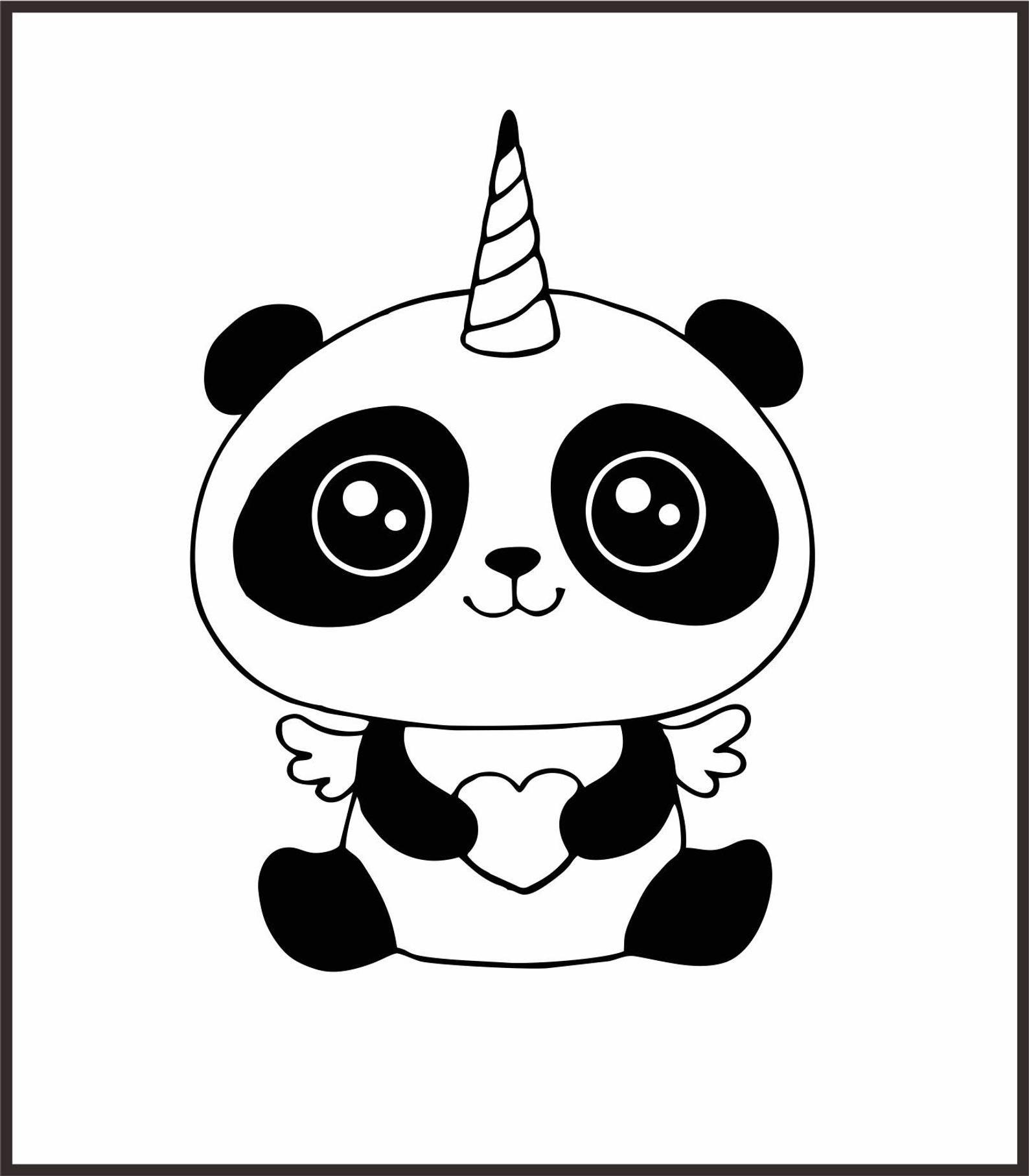 Unicorn Svg Unicorn Head Svg Panda Svg Pandacorn Unicorn