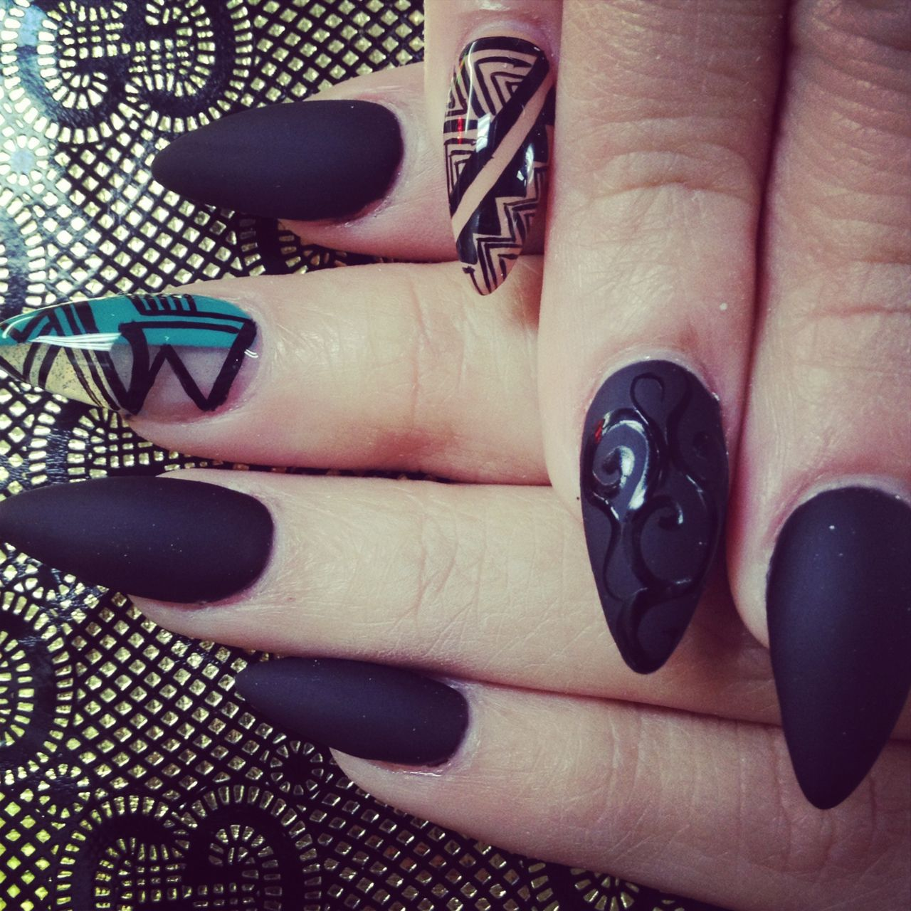 40 Classy Black Nail Art Designs for Hot Women | Stilettos, Nail ...