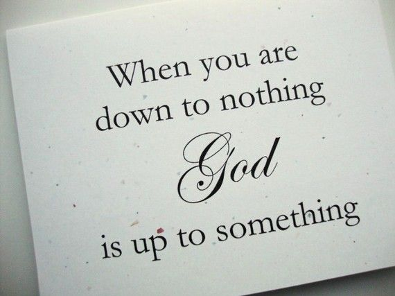Thank You God!  God Is Up To Something Note Cards by papergirlstudios on Etsy, $7.00