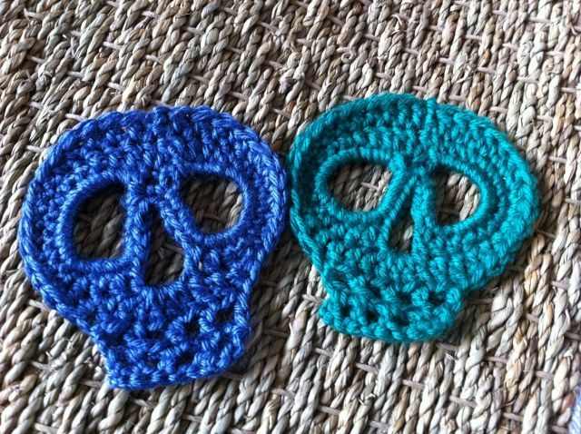 Day Of The Dead Skull Motif Crochet Skull Caron Simply Soft And
