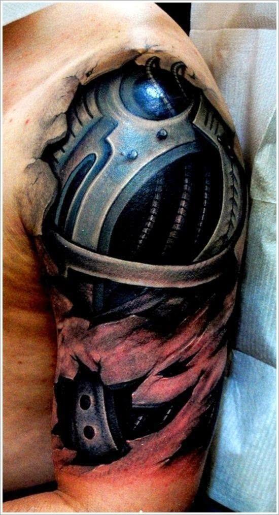3d Biomechanical Tattoo Ideas