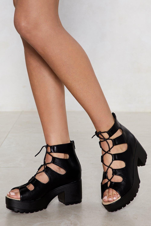 4 1/2 inch Heel, 1 inch Hidden PF Peep Toe Ankle Wrap