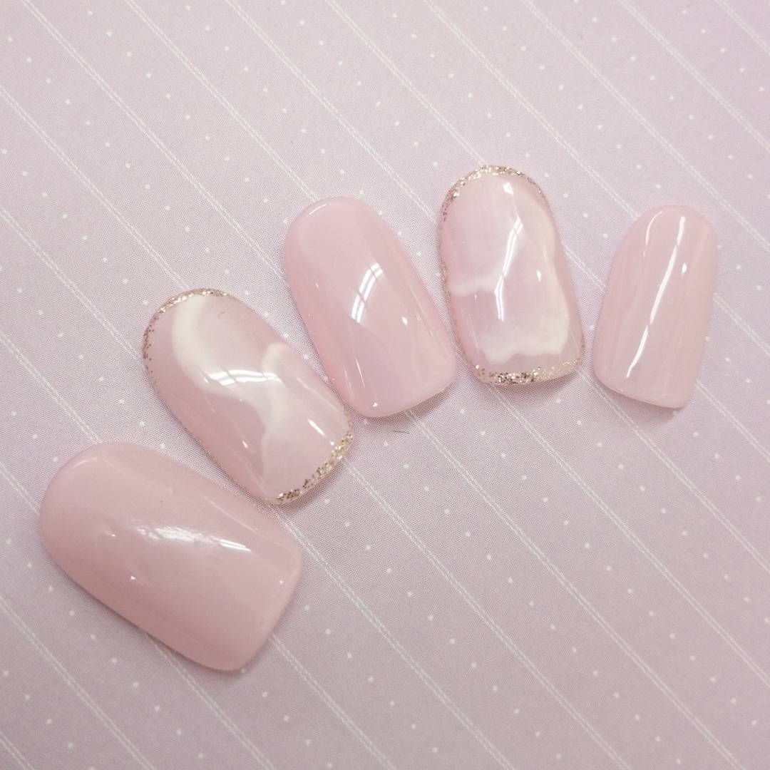 Rose Quartz Nail Art