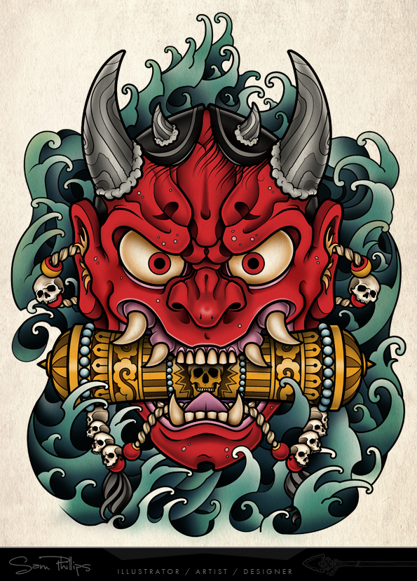 Tattoo Commissions Sam Phillips Oni Mask Tattoo Japanese Tattoo Hannya Mask Tattoo We hope you enjoy our growing collection of hd images to use as a background or home screen for. pinterest