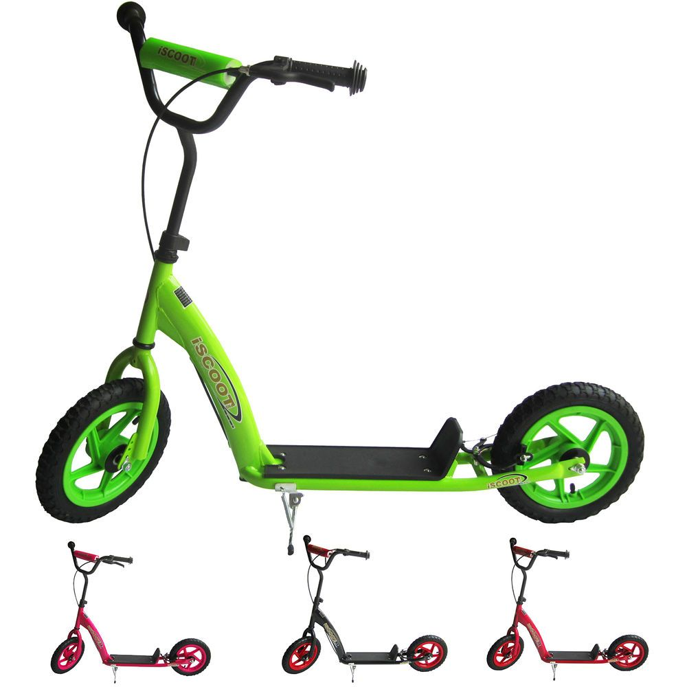 Iscoot Push Stunt Scooter With Jumbo Bmx Wheels Foot Bike Bicycle Sweet Pea Razor Wiring Diagram Cycle Kids New