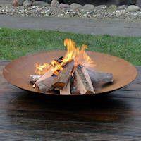 Feuerschale aus Cortenstahl.Feuerstelle,Feuerkorb,Ofen