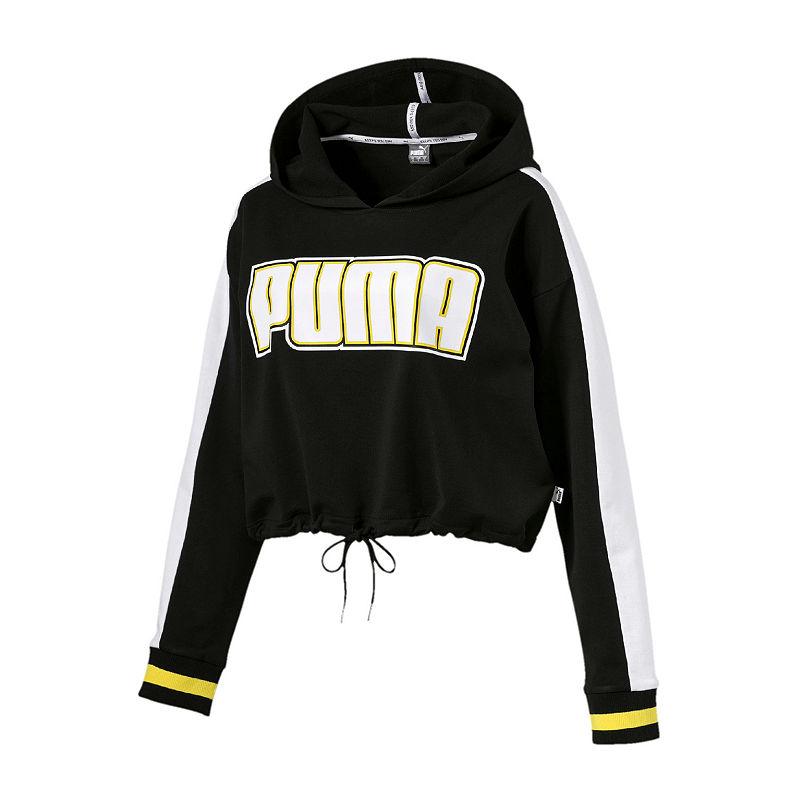 Puma Womens Hooded Neck Long Sleeve Hoodie   Cropped hoodie