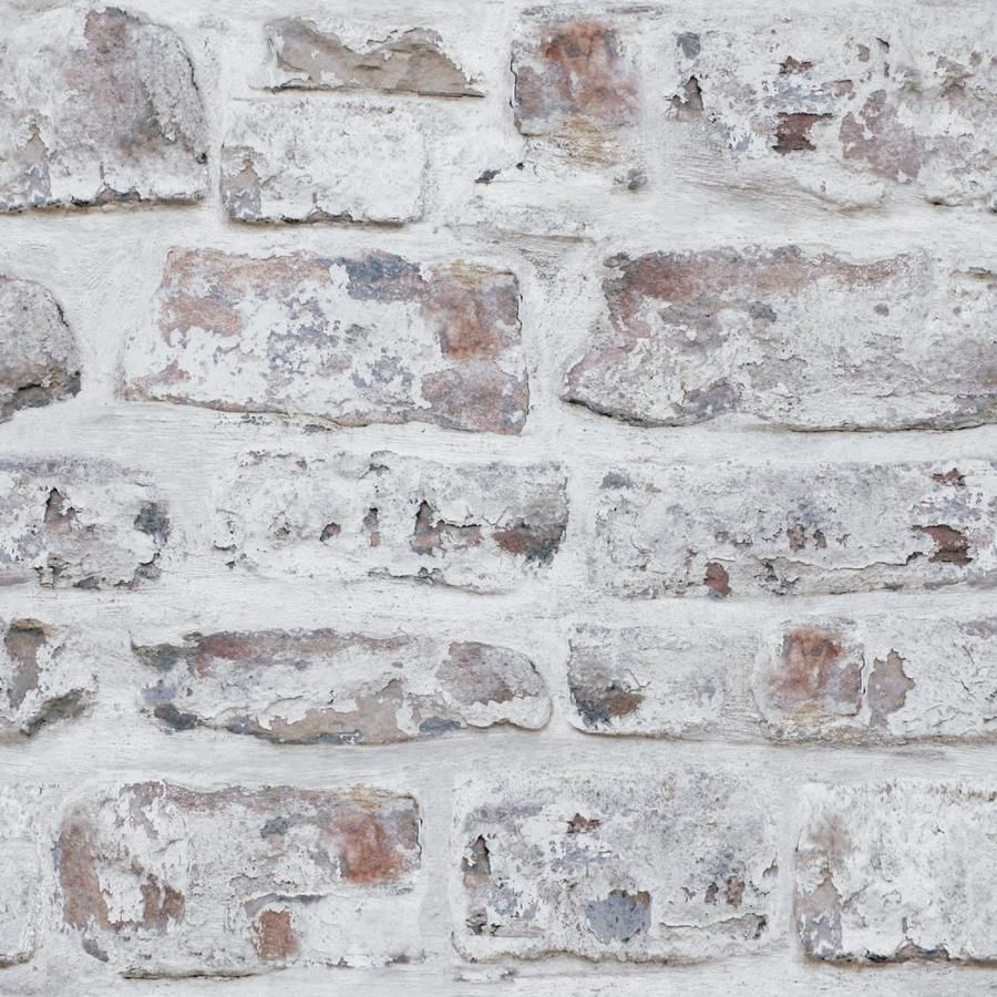 Arthouse Whitewashed Wall Wallpaper Lowes Com Brick Effect Wallpaper Brick Wallpaper White Wash Brick