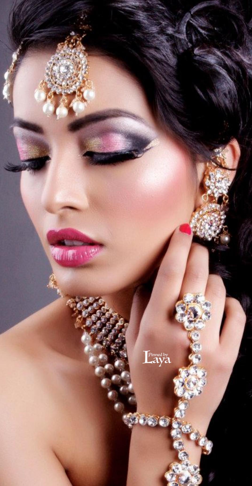 ♔LAYA♔INDIAN BRIDE♔ | Hair & Beauty | Pinterest | Face, Makeup ...