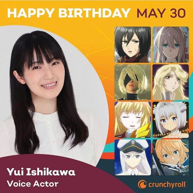 Happy birthday to yui ishikawa the voice of our