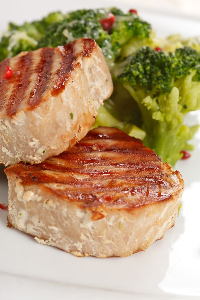 15 Minute Maple Mustard Glazed Tuna Steaks Recipe Pan Seared Tuna Steak Tuna Steak Recipes Seared Tuna Steak Recipe
