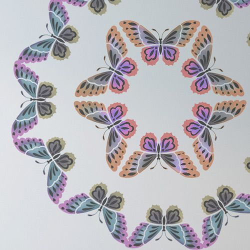 close up of butterfly circle stencil pattern | gettin crafty ...