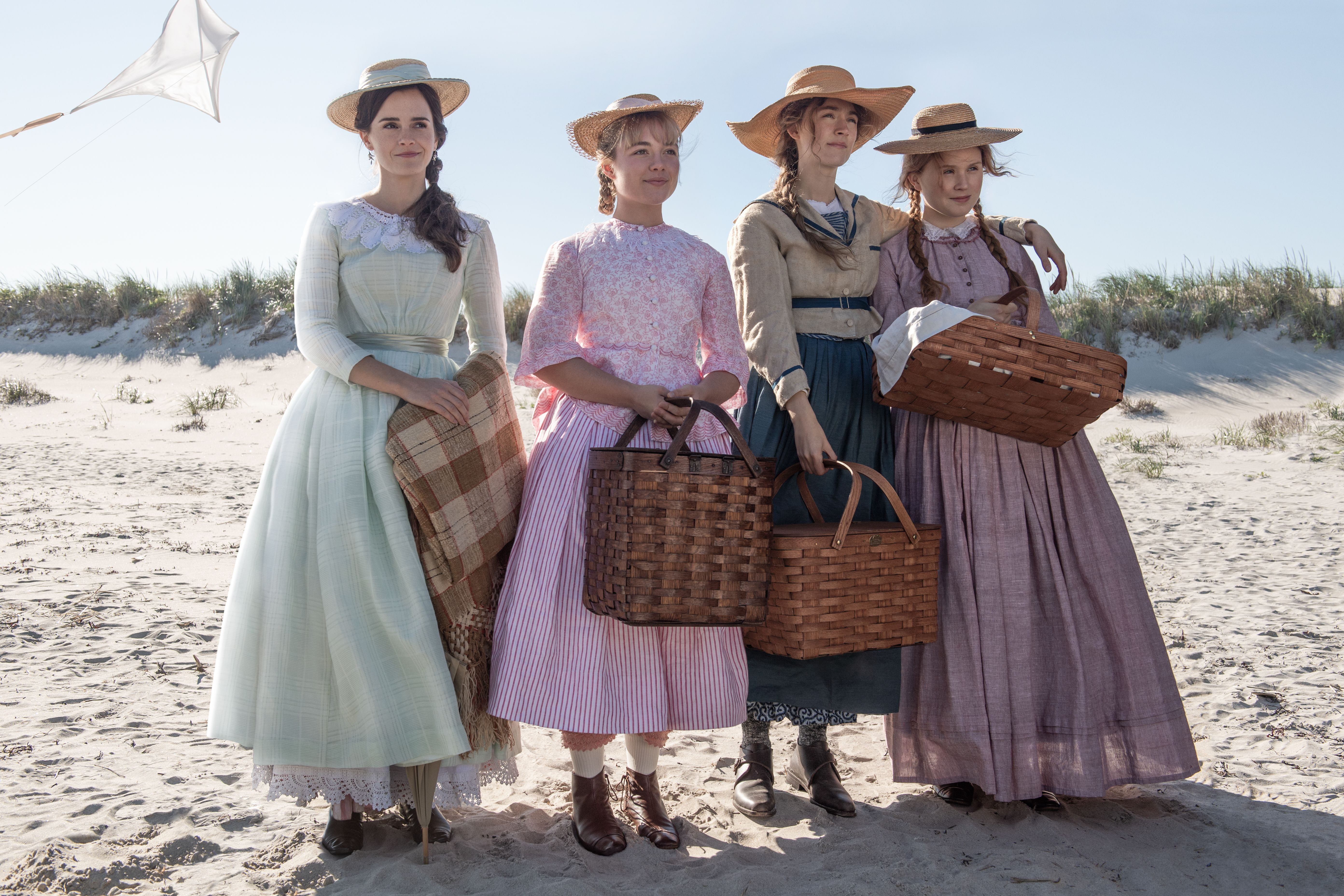 The March Sisters Emma Watson As Meg Florence Pugh As Amy Saoirse Ronan As Jo And Eliza Scanlen As Beth See Them In Woman Movie Florence Pugh Emma Watson