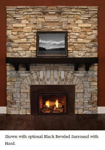 Majestic Topaz Direct Vent Gas Fireplace Insert Propane