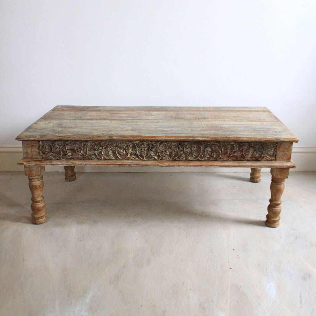 Light Wooden Coffee Table Carved Inlays Kasakosa Wooden Coffee Table Coffee Table Table