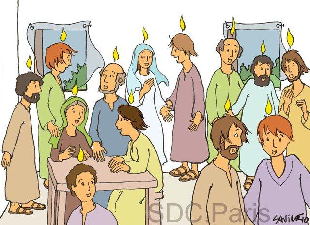 La Pentecote Expliquee Aux Enfants Pentecote Education Chretienne Catechese
