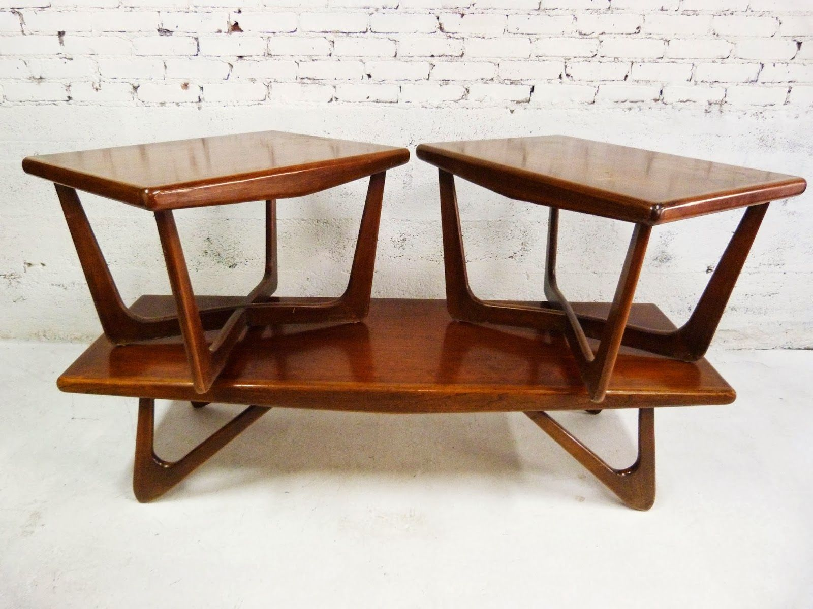 Coffee Table Informal Griffith Dark Brown Mid Century Modern