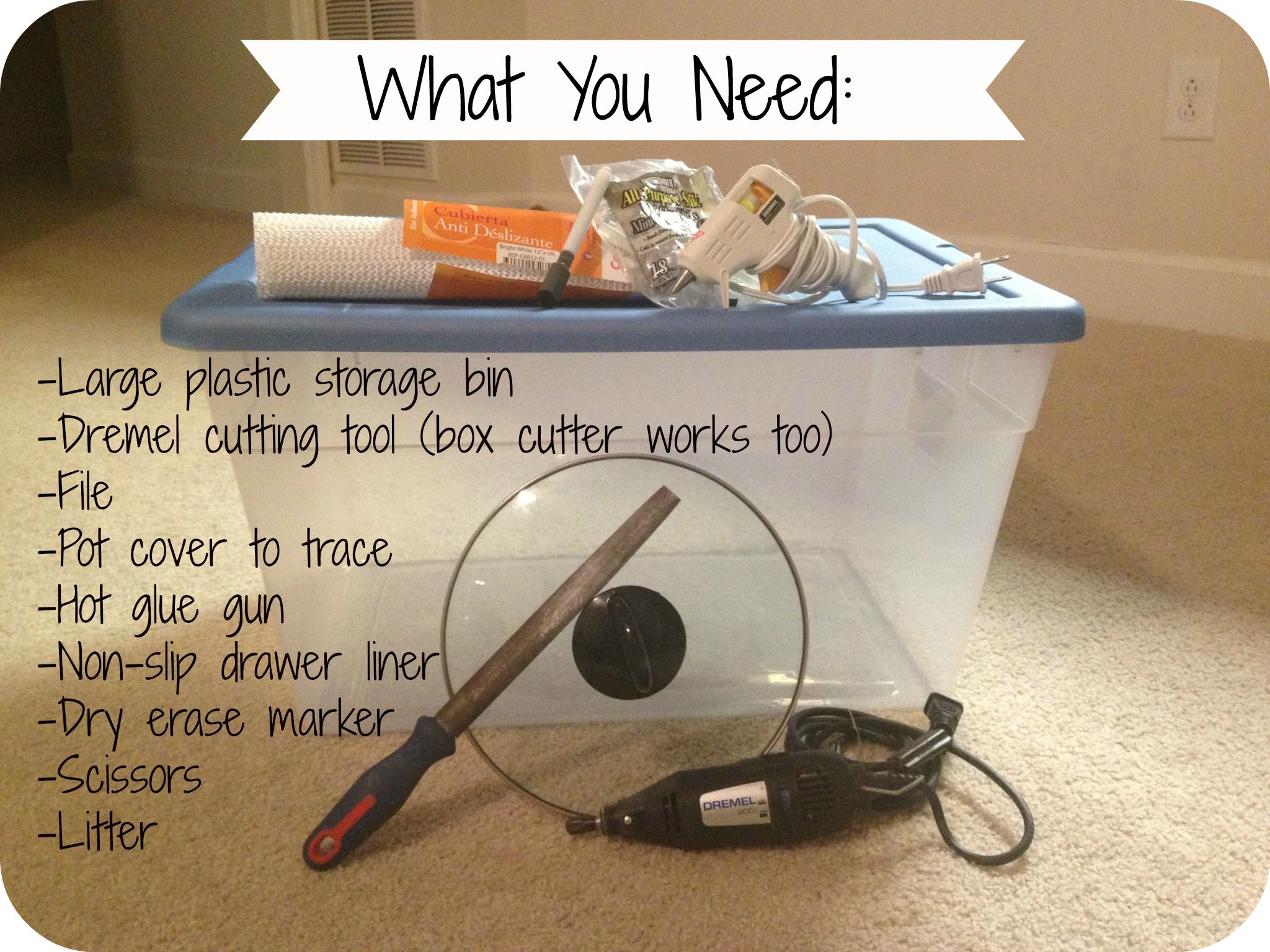 diy top entry litter box - Litter Boxes