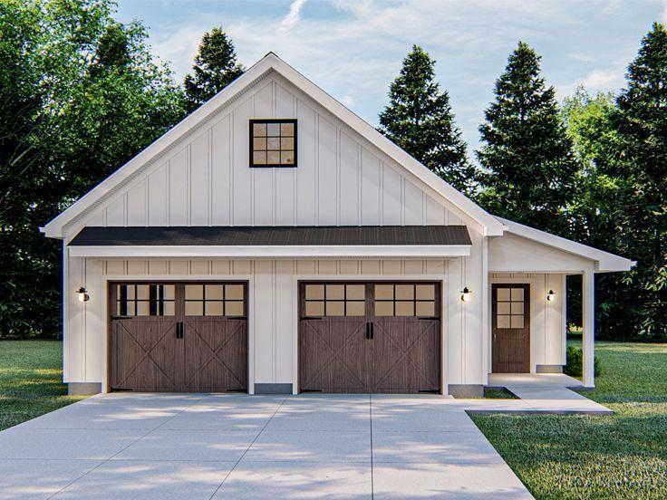 050G0100 Garage Plan with 2Car Garage; 34'x26