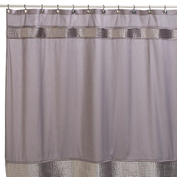 Nicole Miller Willow 72 X 72 Fabric Shower Curtain Gray Bed