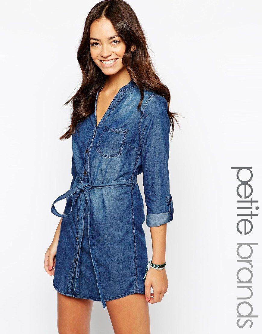 64a312fc15 New+Look+Petite+Denim+Shirt+Dress