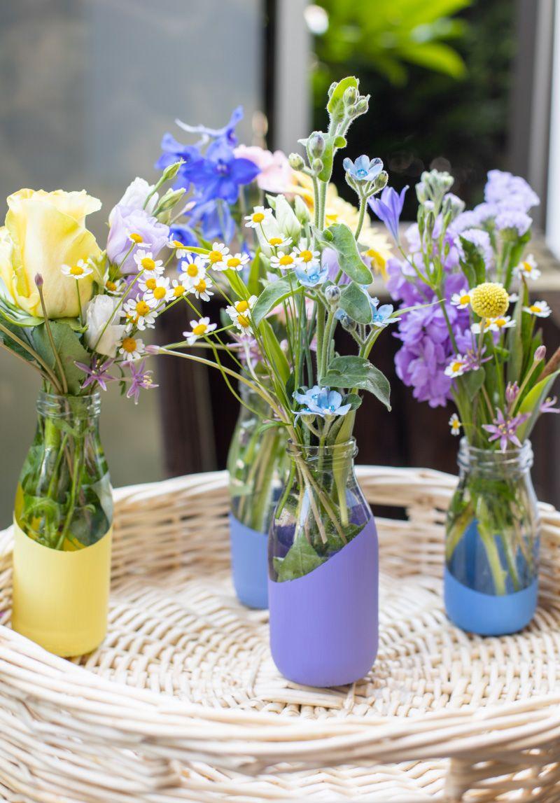 Einfache und schnelle DIY Blumenvase – TRYTRYTRY