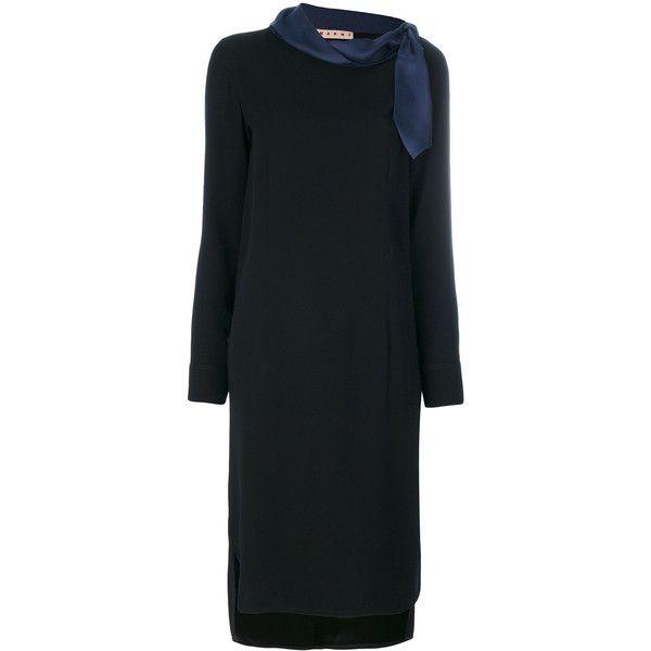scarf tie shift dress - Black Marni ubQRsh