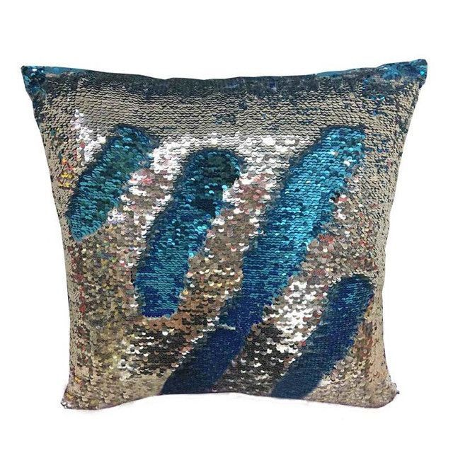 1Pcs 40*40cm Hi Reversible Sequin Mermaid Throw Pillow Cushion Cover Car Home Decoration Sofa Decor Decorative Pillowcase 40044