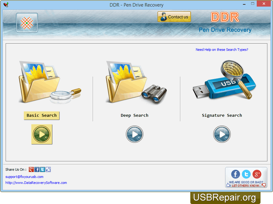 Data Recovery Software Center: USB Repair DDR - Pen Drive