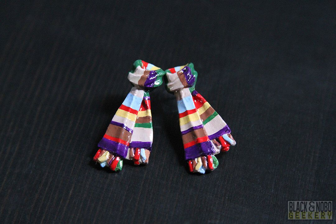 Doctor Who Fourth Doctor Inspired Scarf Earrings | Doctor Who Inspired by BlackNoboGeekery on Etsy https://www.etsy.com/listing/226197196/doctor-who-fourth-doctor-inspired-scarf