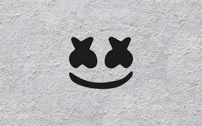 Download Wallpapers Marshmello Dj Logo Emblem Wall Wall Texture