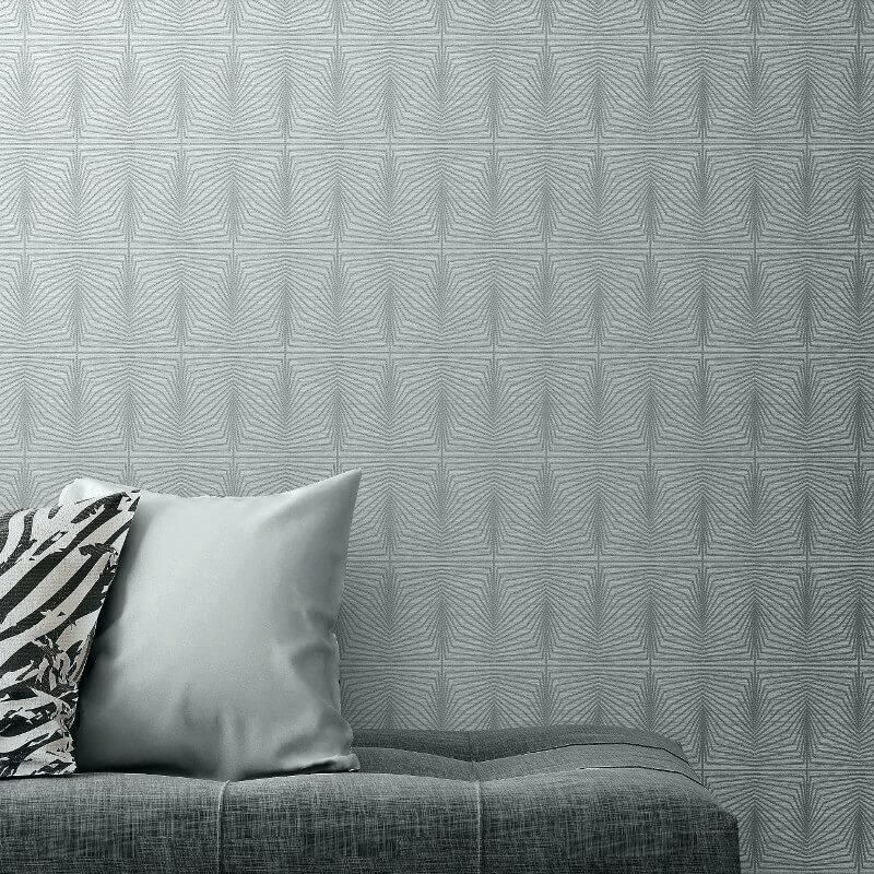 gray grasscloth wallpaper plus gray metallic wallpaper