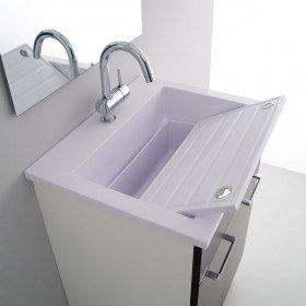 Mobile con lavabo per lavanderia 60x50 Zeus | Lavanderia | Pinterest