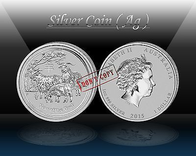 #Australia - lunar ii ( year of the goat ) $1 2015  #silver 1oz ( ag #999/1000) b,  View more on the LINK: http://www.zeppy.io/product/gb/2/321850415716/