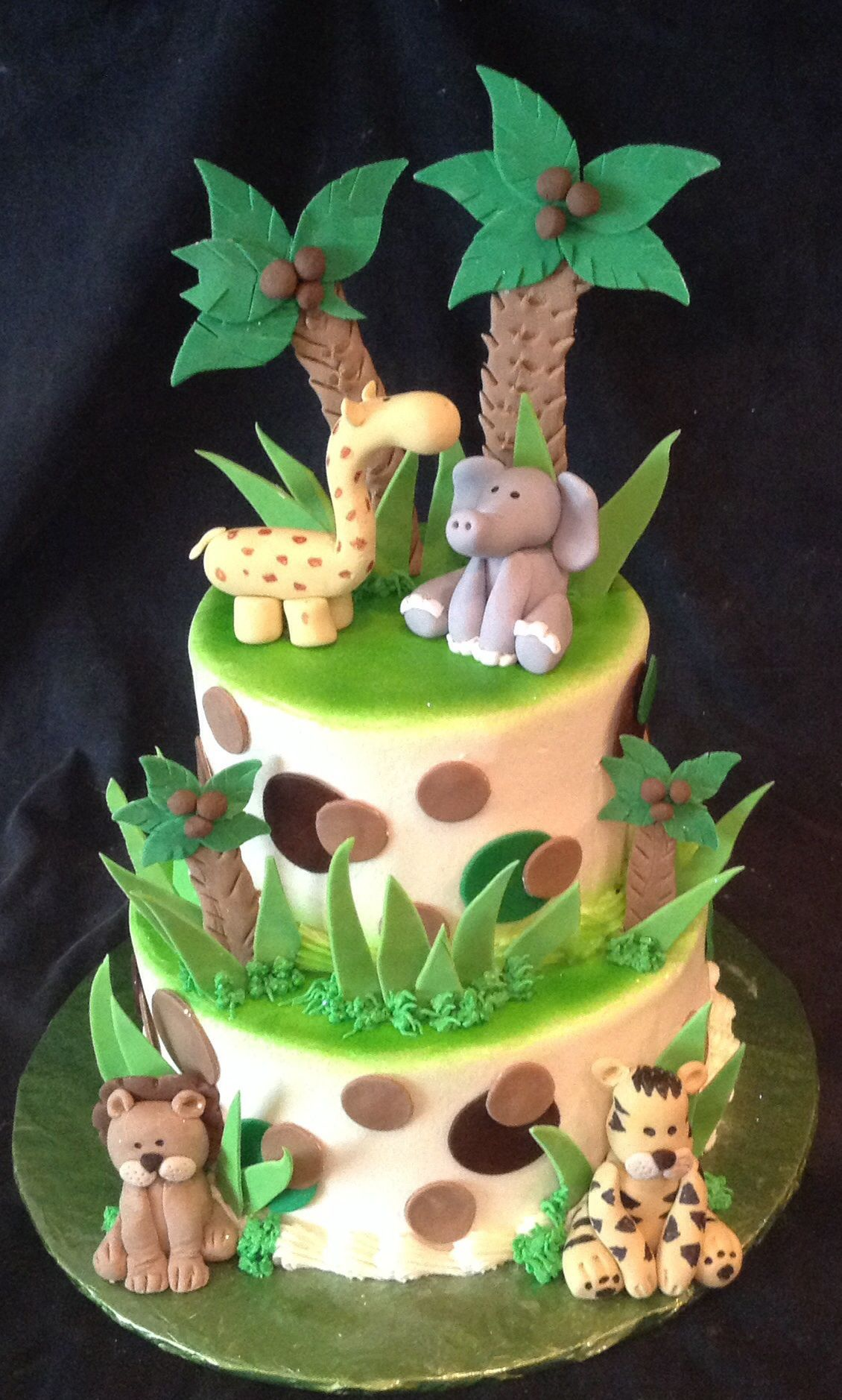 Jungle theme baby shower cake My custom cake designs