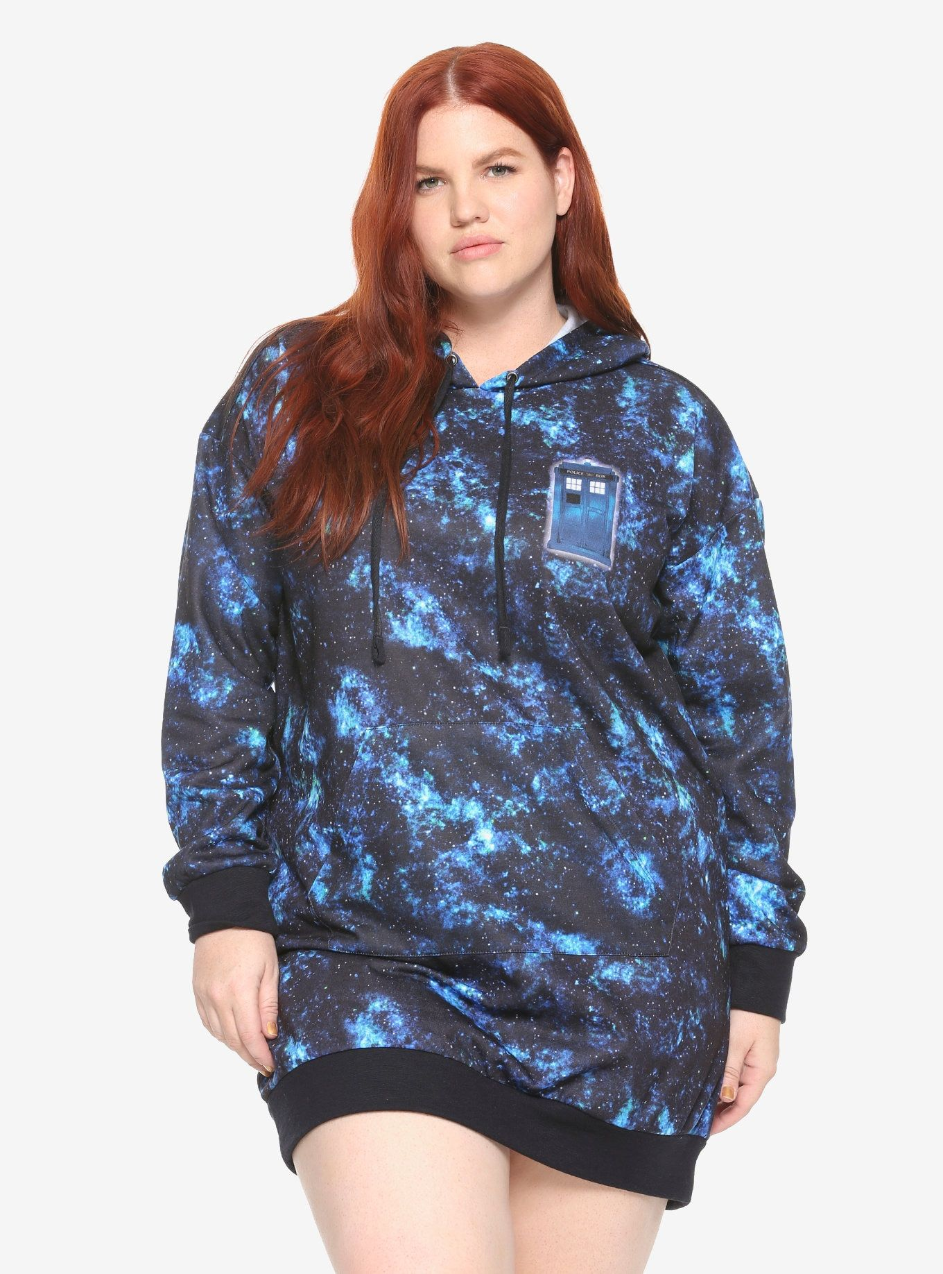 d260b50e2451f Her Universe Doctor Who Galaxy TARDIS Hoodie Dress Plus Size ...