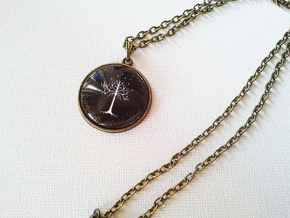 Lord of the Rings The White Tree Necklace by SunandStarsJew3lry, $10.00