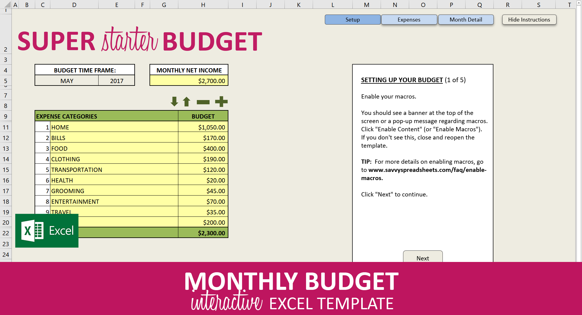 New Budget Spreadsheet Excel Template Exceltemplate Xls