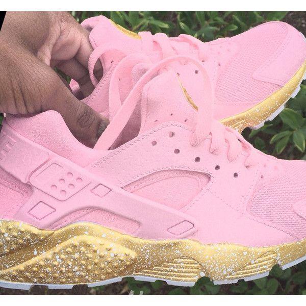 nike air huarache rosa gold