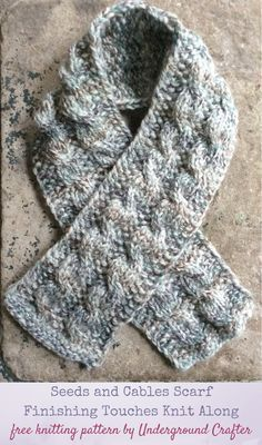 Photo of Free #knitting pattern: Seeds and Cables Scarf in Lion Brand Wool-Ease Thick and…