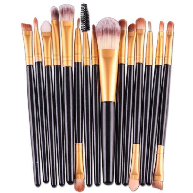 Photo of 15Pcs Makeup Brush Set – Black A