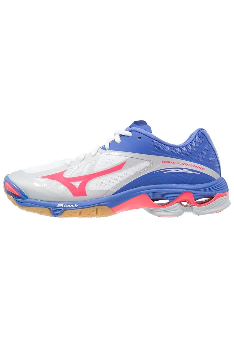 Mizuno Wave Lightning Z2 Volleyball Shoes White Diva Pink Dazzling Blue Zalando Co Uk Volleyball Shoes Mizuno Shoes Sport Outfits