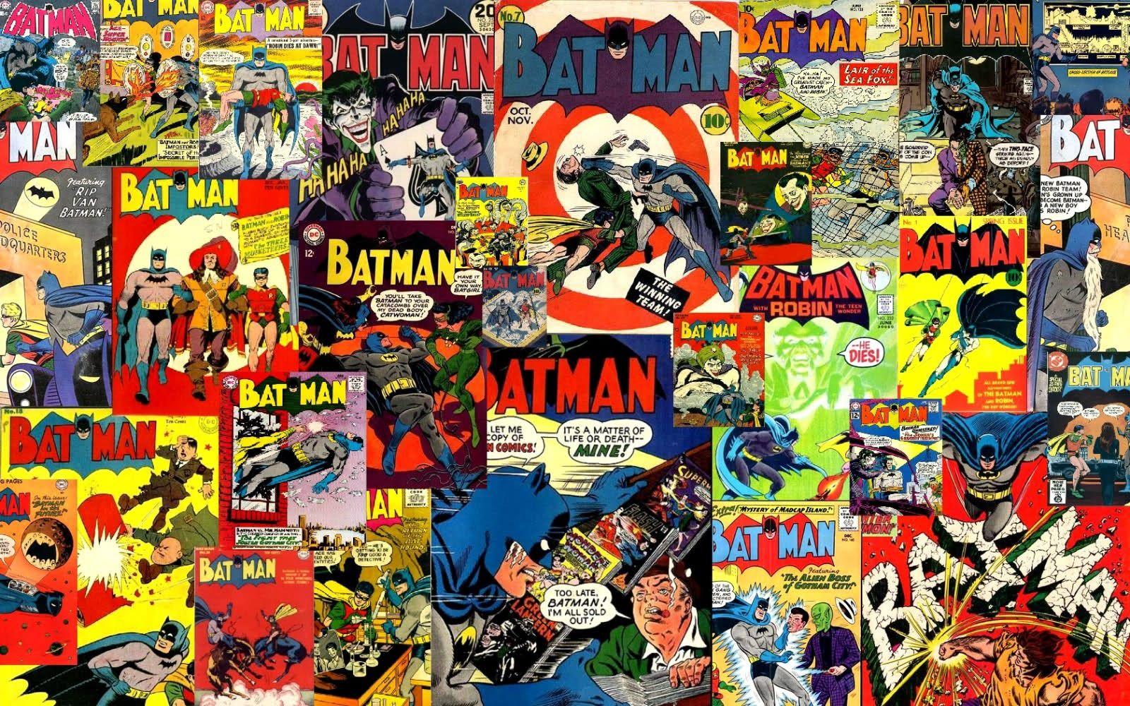 Batman Comic Collage Comic book wallpaper, Marvel iron