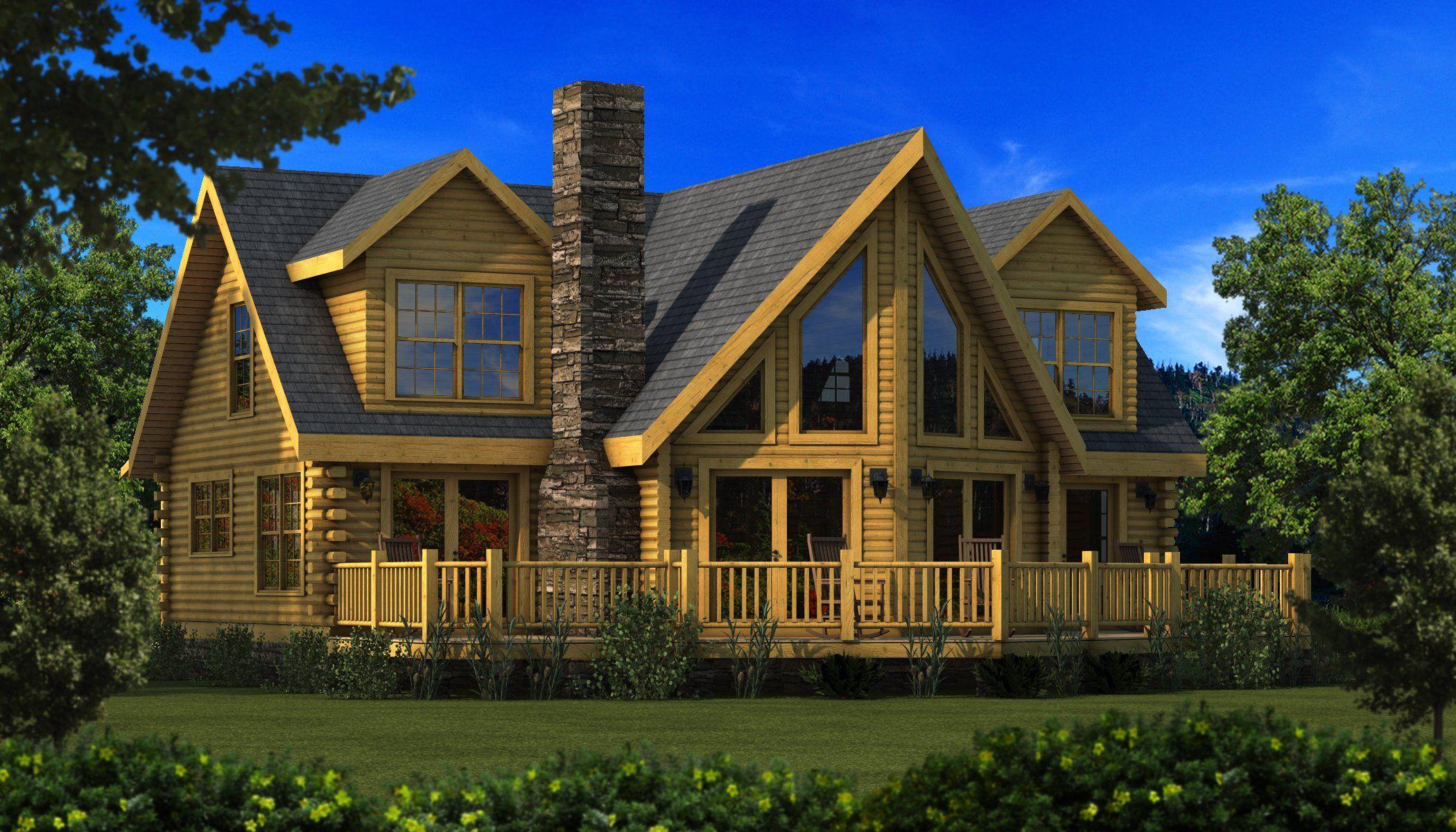 Danville Rear Elevation   Southland Log Homes. Danville Rear Elevation   Southland Log Homes   Houseplans