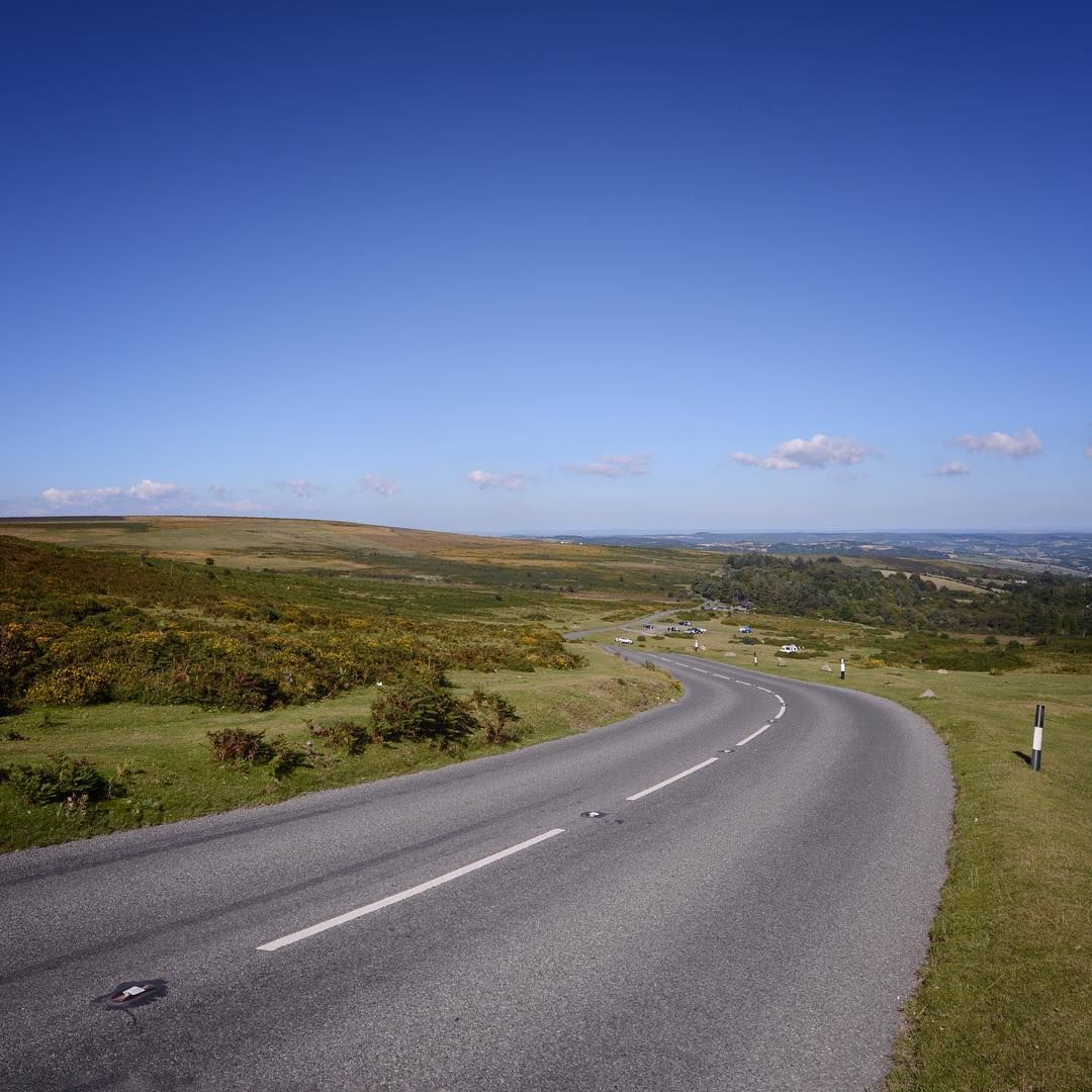 The beautiful view from roadside by Haytor on Dartmoor National Park in Devon. A week tomorrow this road will be lined with thousands of people awaiting the finale to stage 6 of the 2016 @thetourcycling (finish will be a few metres behind this spot) I will be at 5 stages of the Tour of Britain next week starting with a trip to Glasgow for the Grand Depart on Sunday! #visitdevon #visitmiddevon #visitdartmoor #greatbritishcountryside
