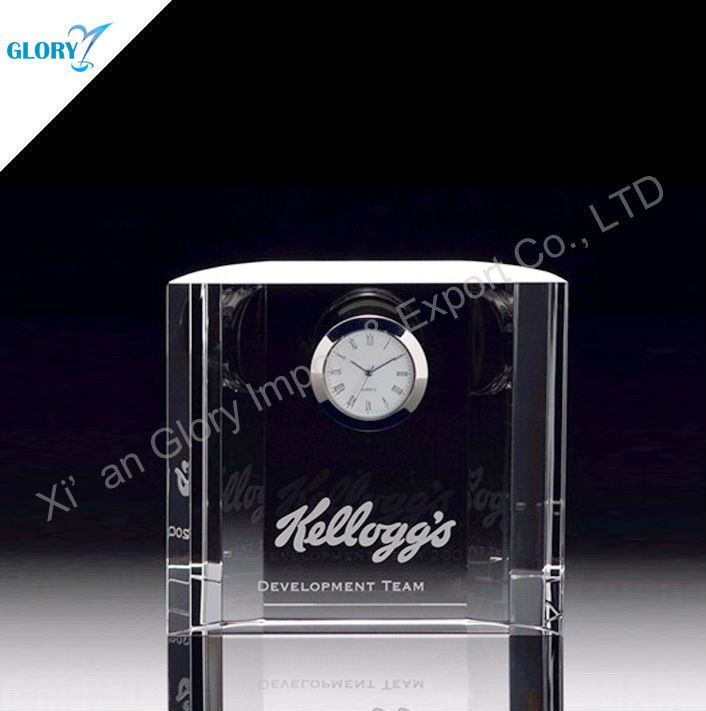 Wedding Crystal Clock Personalized Souvenir Gift  1.k9 crystal material  2.Polished by hand  3.Affordable price  4.Crystal cube