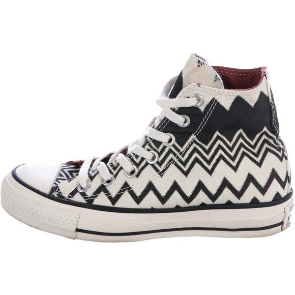ba31196f5e23 Pre-owned Missoni x Converse Chevron High-Top Sneakers ( 80) ❤ liked
