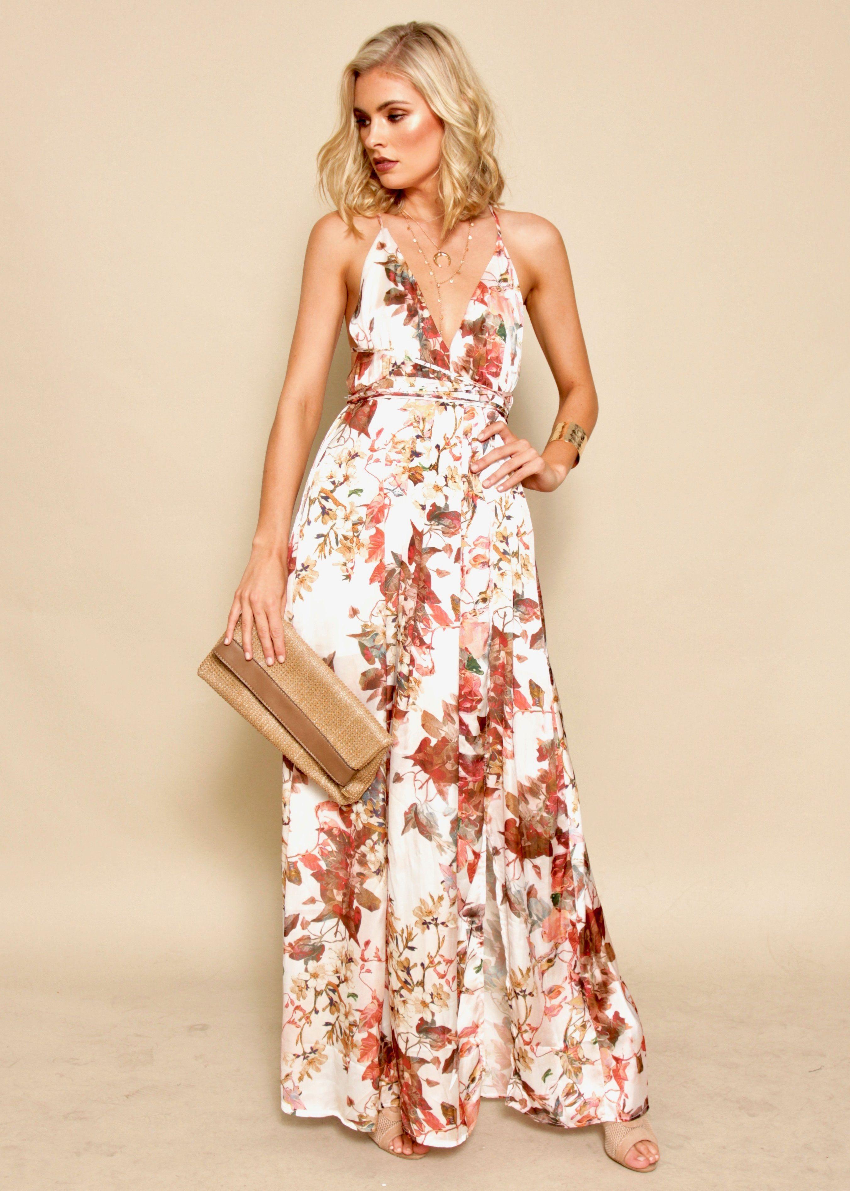 Karmen Halter Maxi Dress - Gardenia