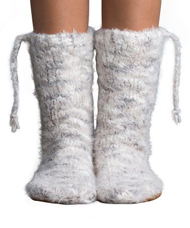 Another great find on #zulily! Vanilla Cream Teton Village Mukluk Slipper Socks…